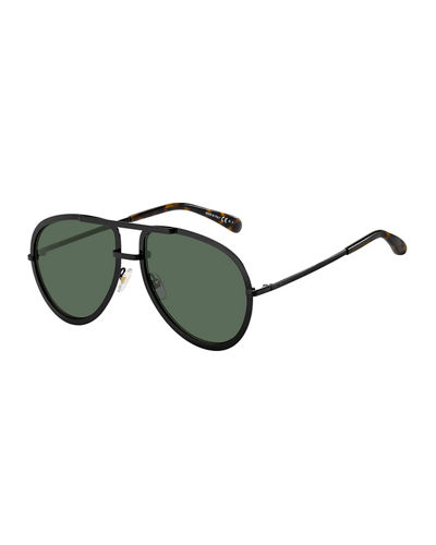 Men's Full-Rimmed Metal Aviator Sunglasses