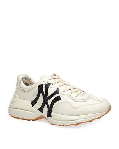 Men's Rhyton NY Yankees Leather Sneakers