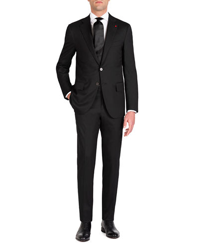 Men's Solid Stretch Two-Piece Suit