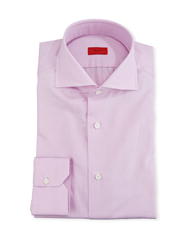 Men's Solid 2-Ply Cotton Twill Dress Shirt