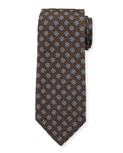 Men's Silk Textured Star Tie