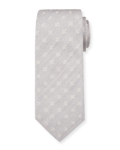 Men's Silk Textured with Circles Tie