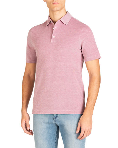 Men's Short Sleeve Washed Pique Polo Shirt
