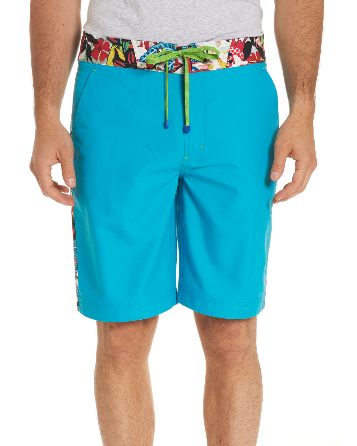 Dos Rios GraphicTrim Swim Trunks with WetDry ColorChange Effect