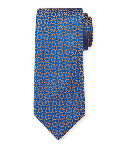 Men's Silk Floral Pattern Tie