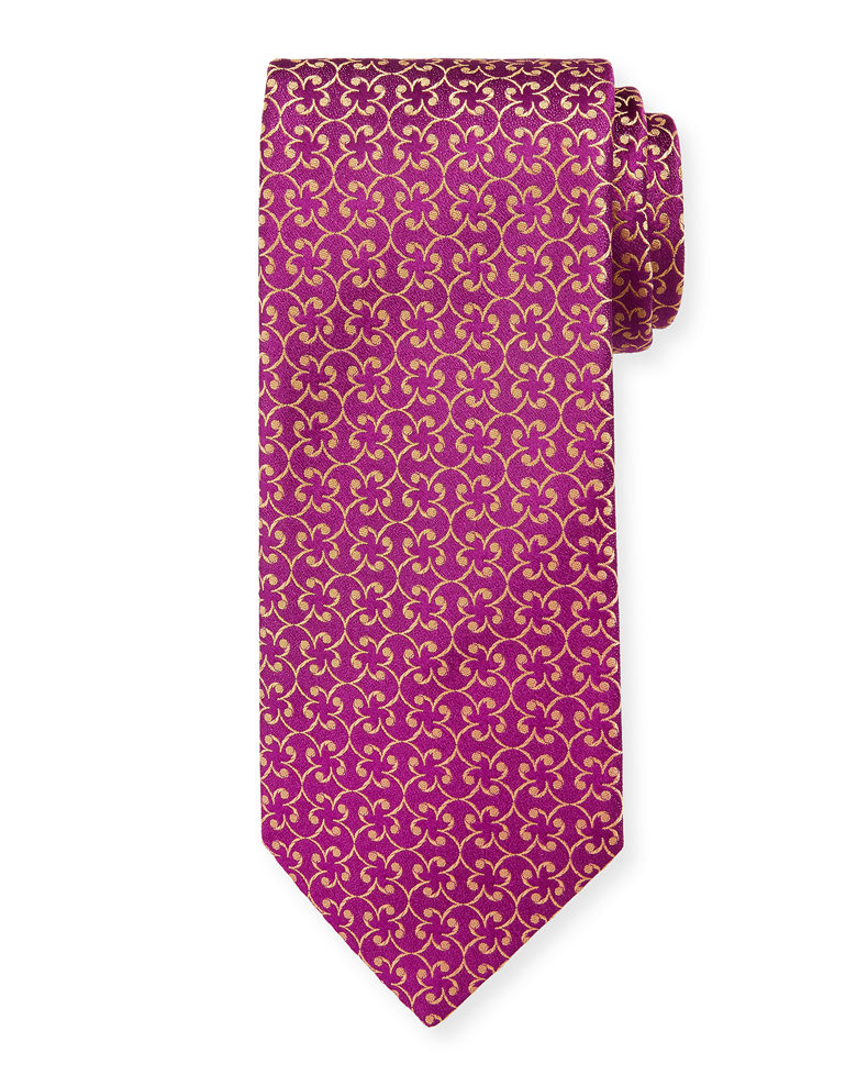 Charvet Men's Silk Floral Pattern Tie