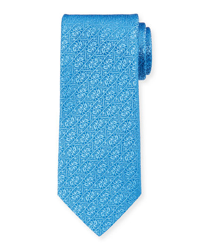 Charvet Men's Silk Ivy Leaves Tie