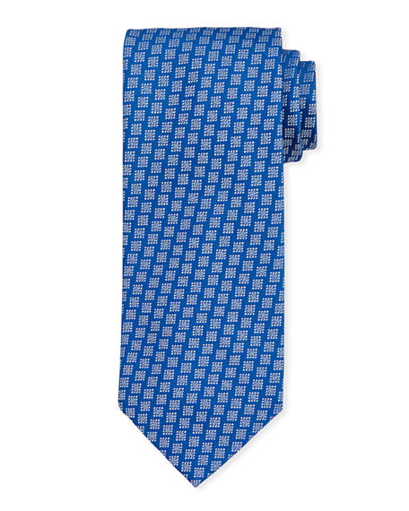 Charvet Large Diamond Silk Tie