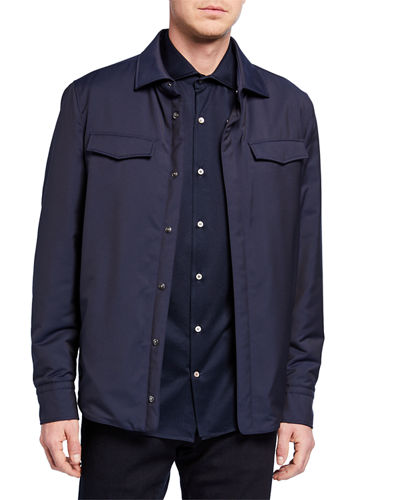 Men's TechnoWool Long Shirt Jacket