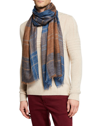 Loro Piana Men's Westray Plaid Scarf