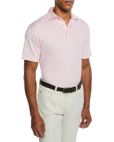 Men's Solid Stretch-Jersey Polo Shirt