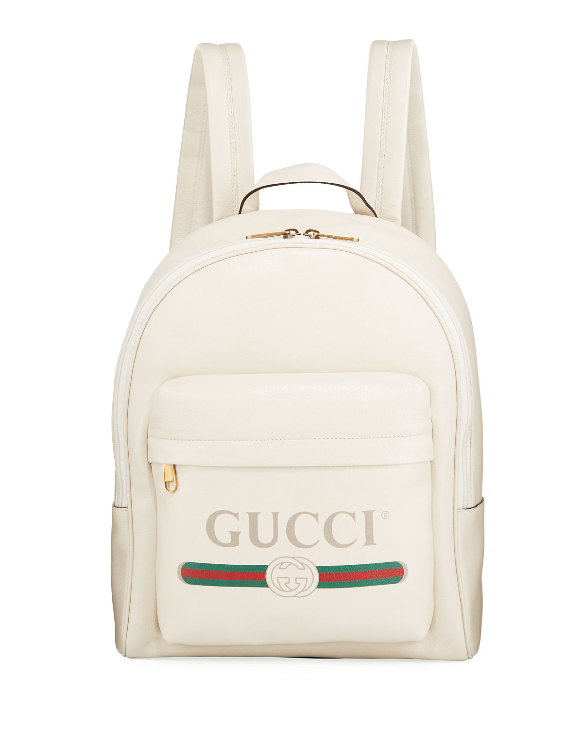 cd1098a6c1ea Gucci Men's Vintage Logo-Print Leather Backpack | Neiman Marcus