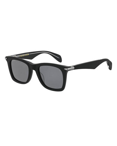 Men's Two-Tone Square Acetate Sunglasses