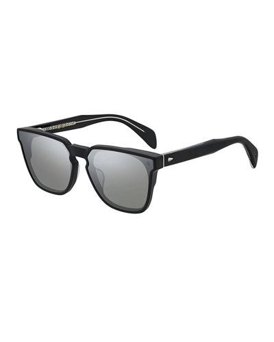 Men's Square Dagger-Hinge Acetate Sunglasses