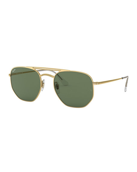88200a9f5df7 RAY BAN MEN S HEXAGONAL METAL SUNGLASSES WITH SOLID LENSES. Photo  Neiman  Marcus