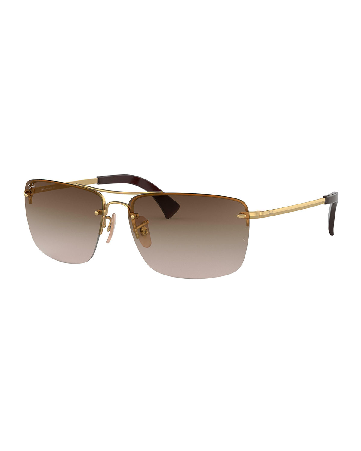 9593ab95de Ray-Ban Men s Half-Rim Metal Sunglasses with Gradient Lenses ...