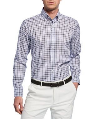 663059e8ad Peter Millar Men s Summer Chambray Check Sport Shirt