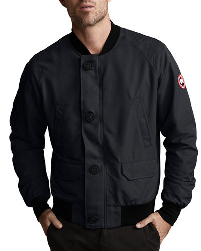 Men's Fader Button-Front Bomber Jacket