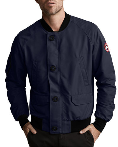 Men's Faber Button-Front Bomber Jacket