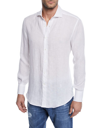 Men's Solid Woven Shirt
