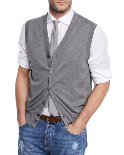 Men's Sleeveless Cardigan