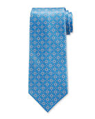 Stefano Ricci Luxe Large-Floral Medallion Silk Tie