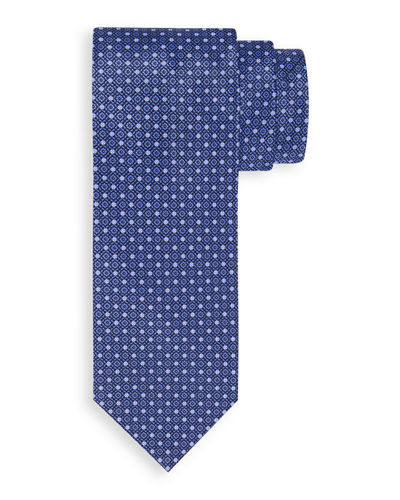 Small-Floral Medallion Silk Tie