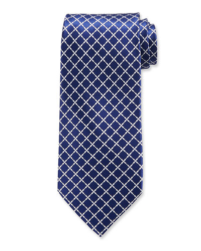 Arrow-Print Silk Tie