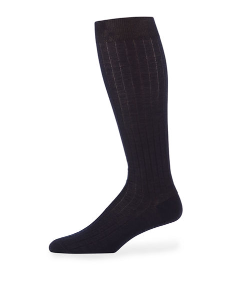 Neiman Marcus Men's Over-Calf Cashmere Dress Socks