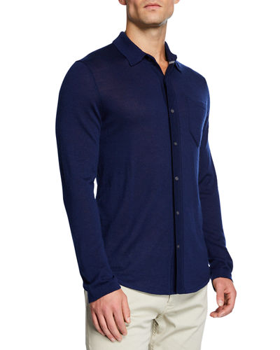 cfe9b796b9f Quick Look. Neiman Marcus · Men s Cashmere Knit Long-Sleeve Polo Shirt