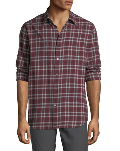Men's Relaxed-Fit Plaid Sport Shirt