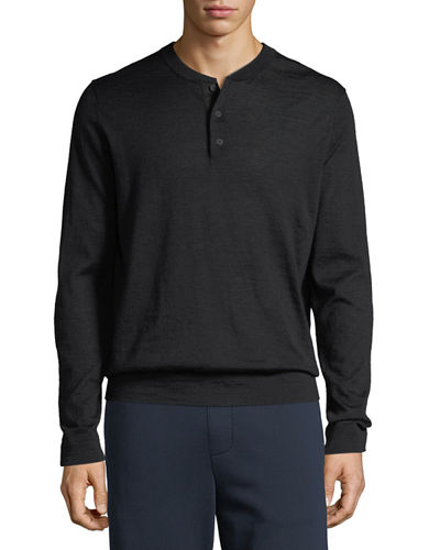 Men's Wool Henley Shirt