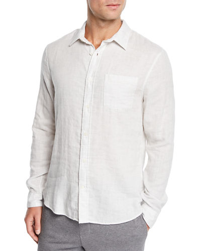 Men's Solid Double-Face Sport Shirt