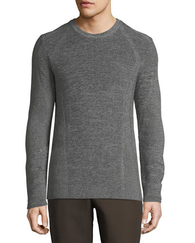 Men's Ribbed Crewneck Sweater