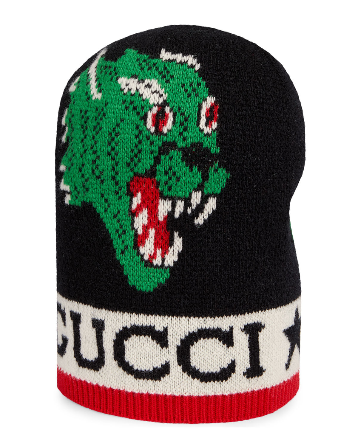 170930edf9e3a Gucci Men s Aderfull Wool Kingsnake   Panther Beanie Hat