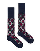 Gucci Men's Diamond Interlocking G Cotton Socks
