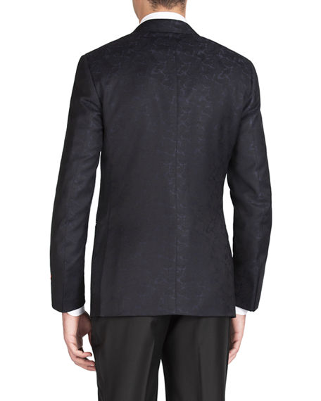 Image 2 of 4: Isaia Men's Formal Paisley Jacket