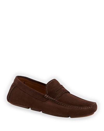Men's Brandon Waterproof Suede Driver Shoes