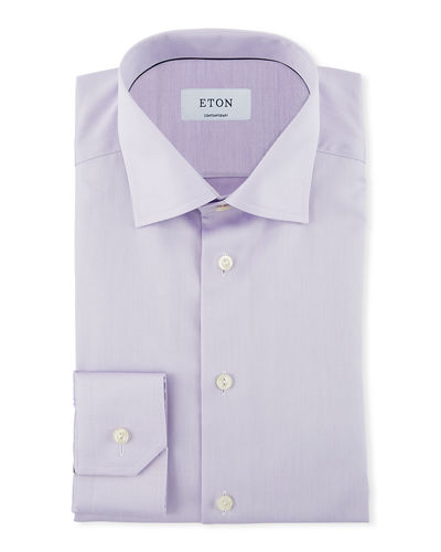 Men's Contemporary Fit Twill Dress Shirt