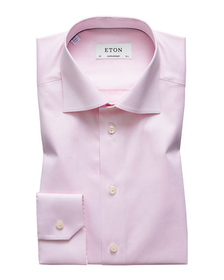 Image 1 of 3: Eton Men's Contemporary-Fit Twill Dress Shirt