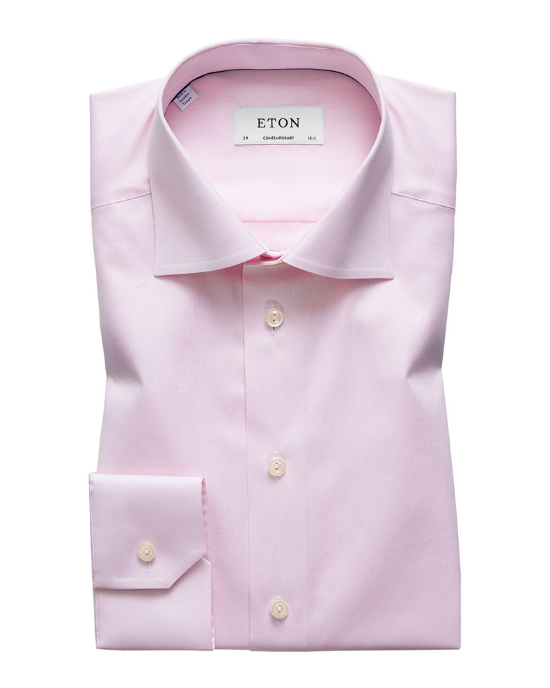 Eton Men's Contemporary-Fit Twill Dress Shirt