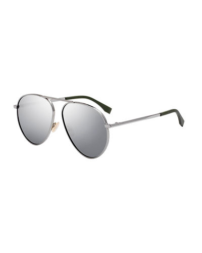 cf846e55bcb Quick Look. Fendi · Men s Logo-Rim Metal Aviator Sunglasses