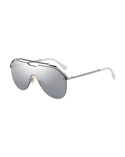 Men's Mirrored Shield Sunglasses