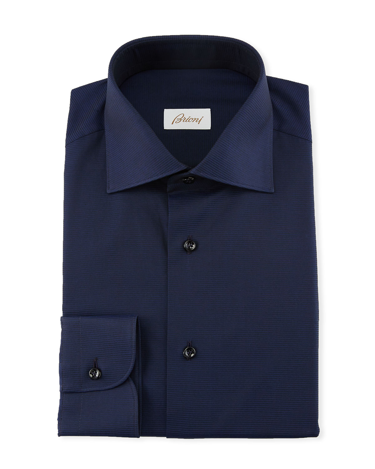 Brioni Mens Textured Solid Dress Shirt Neiman Marcus