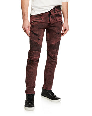fcf08d4c Hudson Men's Blinder Biker Destructed Skinny Jeans