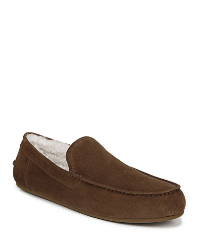 Men's Gino Velour Suede Slippers