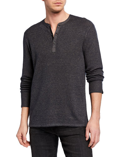 Men's Davis Wool/Linen Henley Shirt
