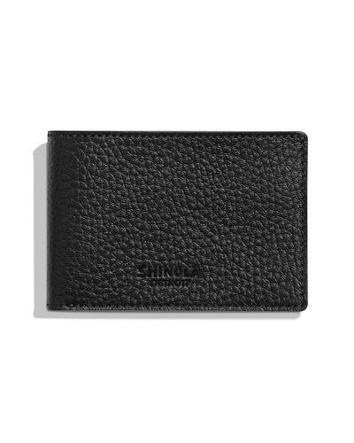 Men's Luxe Grain Leather Super-Slim Bifold Wallet
