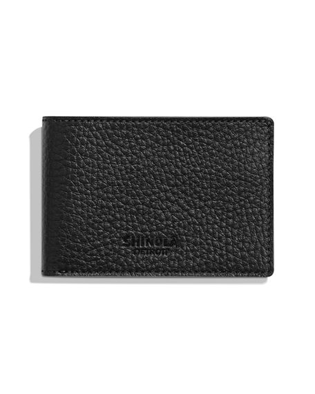 Shinola Men's Luxe Grain Leather Super-Slim Bifold Wallet