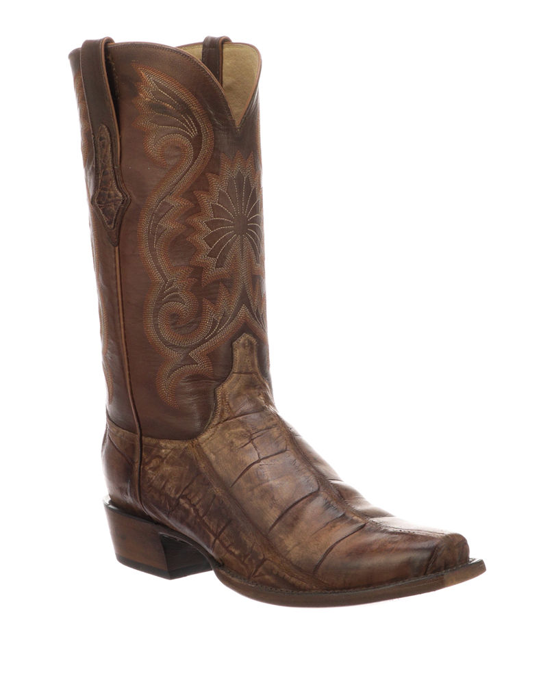 Lucchese Men's Rio Gator Leather Western Cowboy Boots (Made to Order)
